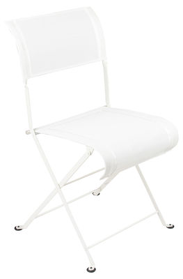 Chaise pliante Dune / Toile - Fermob blanc en tissu