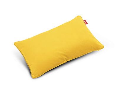 Coussin King Velvet / Velours - 66 x 40 cm - Fatboy jaune en tissu