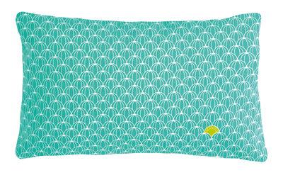 Interni - Cuscini  - Cuscino da esterno Envie d'ailleurs - Angurie / 44x30 cm - Fermob - Motivi angurie / Turchese - Cotone idrorepellente, Espanso