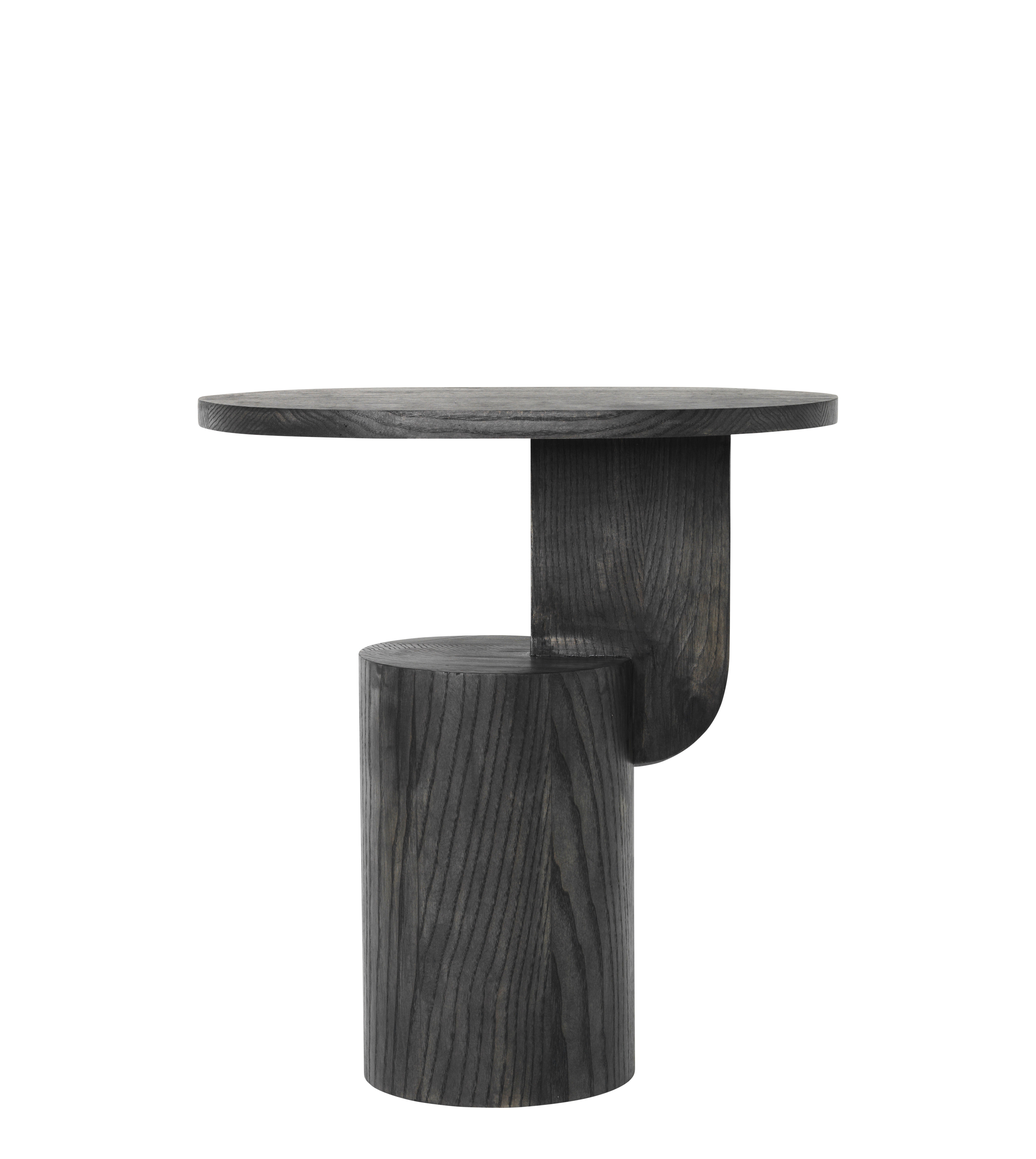 Furniture - Coffee Tables - Insert End table - / H 50 cm - Wood by Ferm Living - Black - Stained solid ash