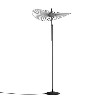 Lighting - Floor lamps - Vertigo Nova LED Floor lamp - / Ø 110 cm - H 165 or 200 cm by Petite Friture - Black - Fibreglass, Polyurethane, Steel, Three-ply glass