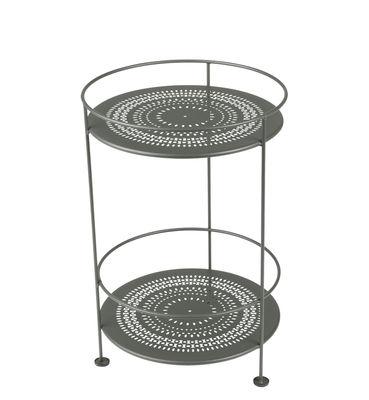 Guéridon Guinguette / Ø 40 x H 61 cm - Fermob vert/gris en métal