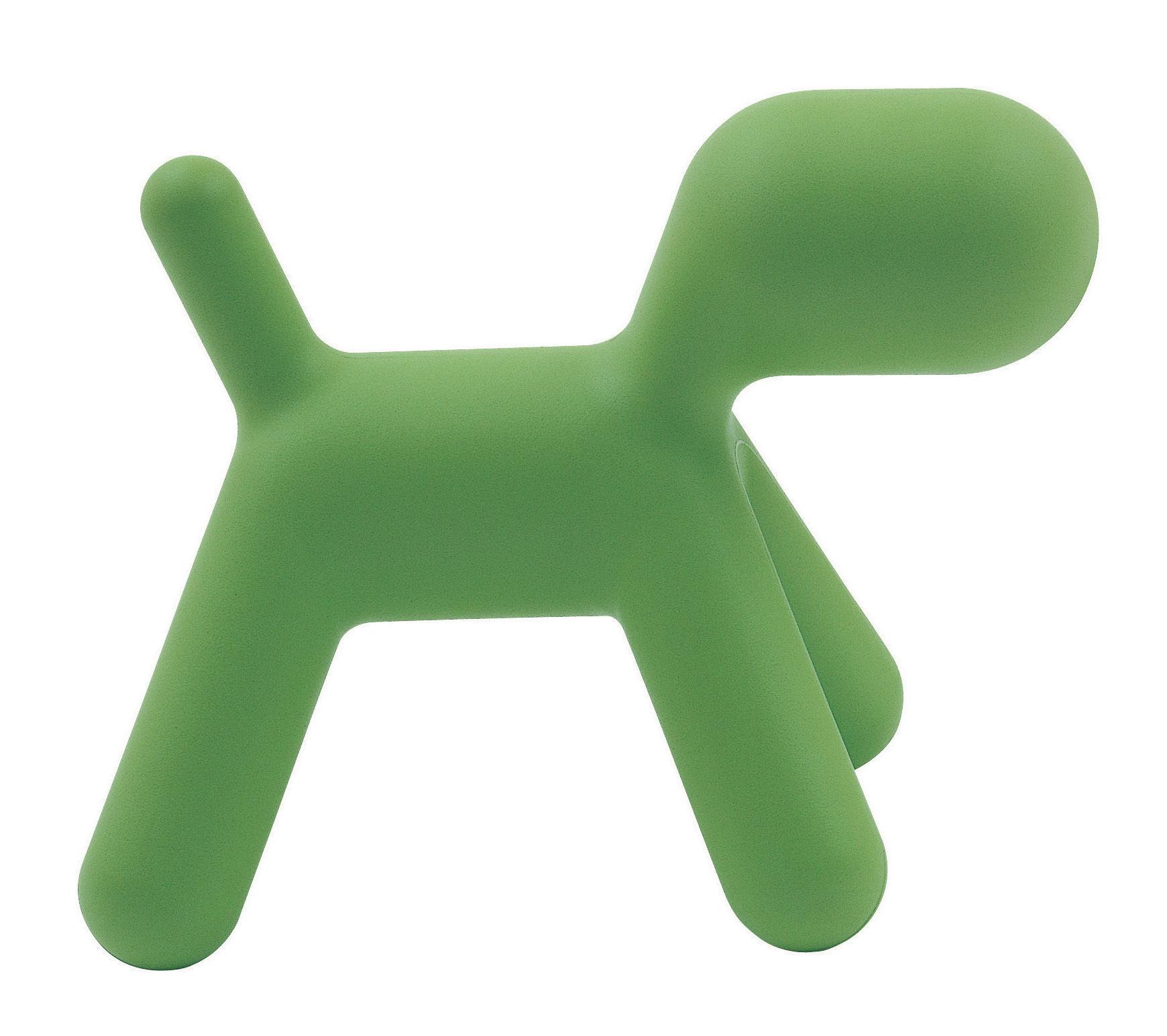 Möbel - Möbel für Kinder - Puppy Medium Kinderstuhl L 56 cm - Magis Collection Me Too - Grün, matt - Polyäthylen