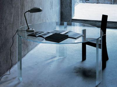 Mobilier - Tables - Table ronde Kooh-I-Noor / Ø 153 cm - Glas Italia - Plateau rond -  Ø153 cm - Verre