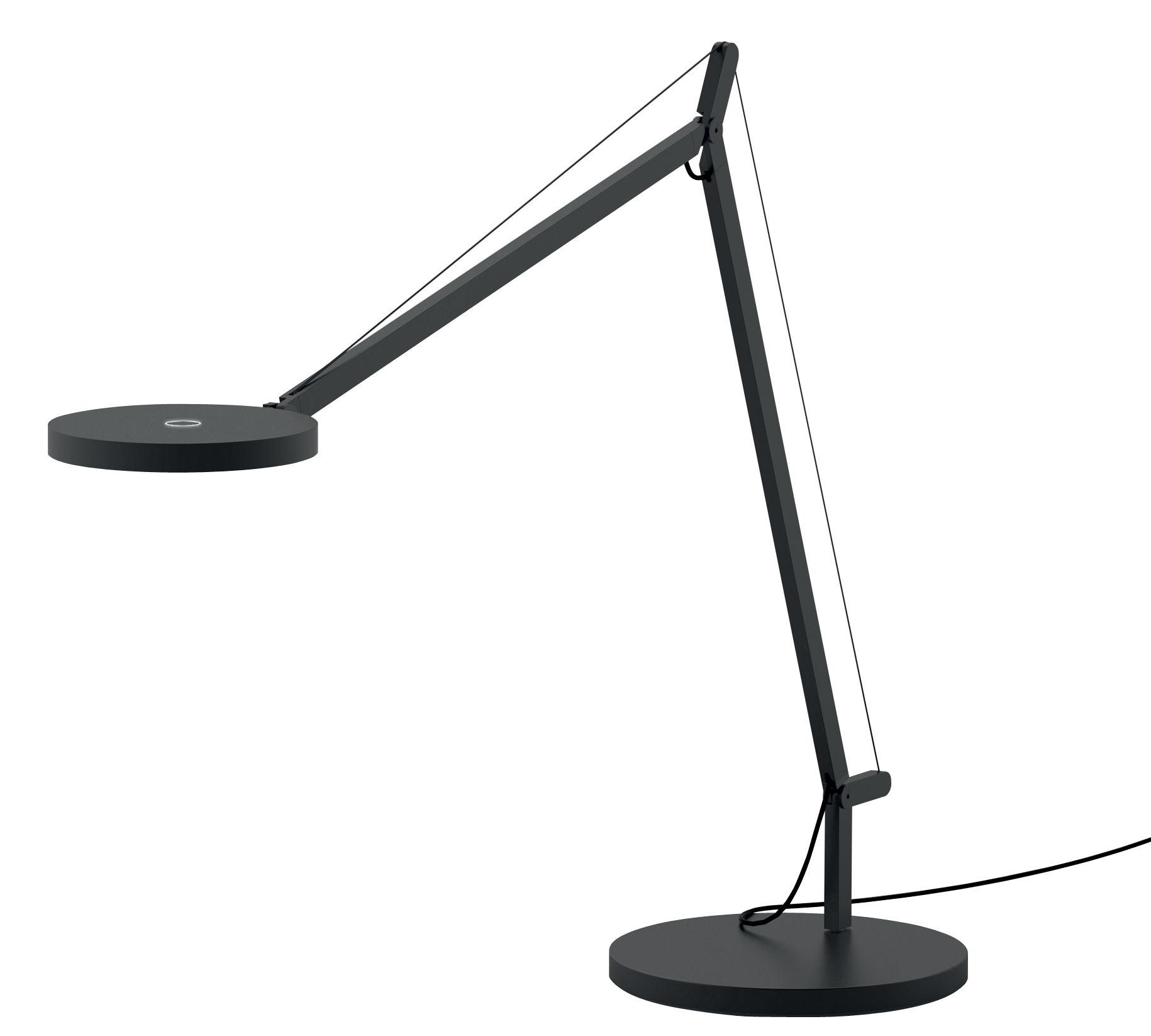 Illuminazione - Lampade da tavolo - Lampada da tavolo Demetra LED - / Con rilevatore di presenza di Artemide - Grigio - Alluminio