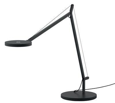 Luminaire - Lampes de table - Lampe de table Demetra LED / Avec détecteur de présence - Artemide - Gris - Aluminium
