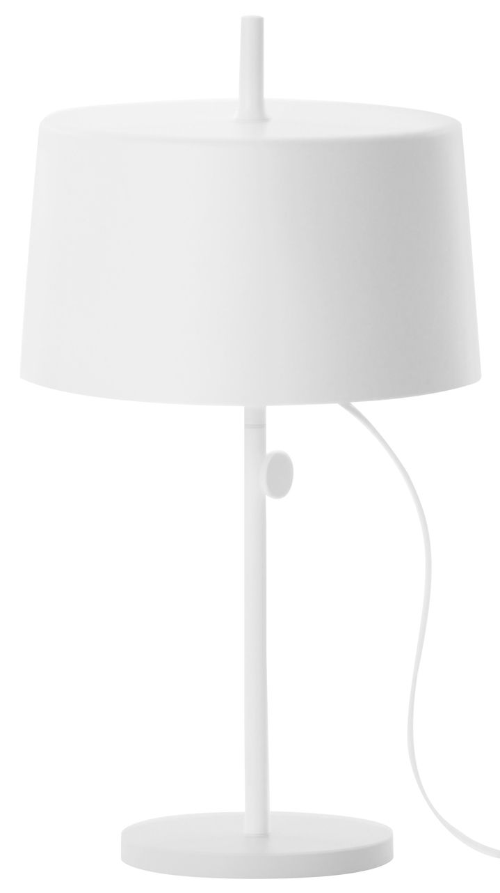 Luminaire - Lampes de table - Lampe de table Nendo Cylinder w132t / Hauteur réglable - Wästberg - Blanc - Acier