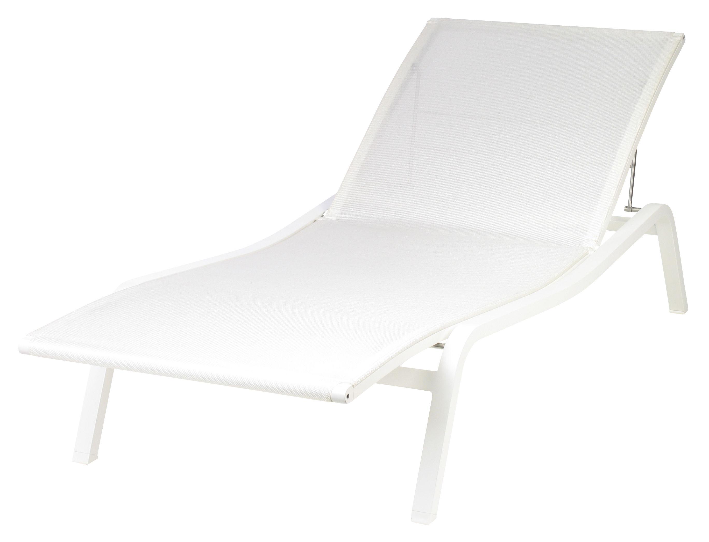 Outdoor - Sedie e Amache - Lettino da sole Alizé di Fermob - Bianco - Alluminio laccato, Tela poliestere