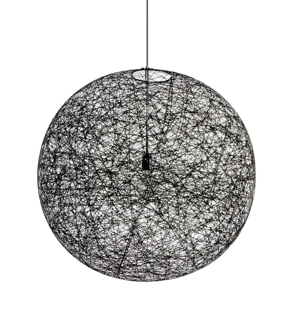 Lighting - Pendant Lighting - Random Light LED Pendant - LED version - Ø 50 cm by Moooi - Black - Ø 50 cm - LED - Epoxy resin, Fibreglass