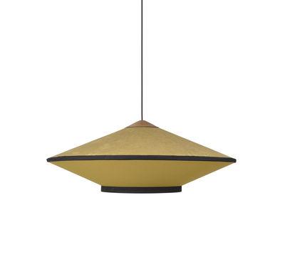 Cymbal Medium Pendelleuchte / Ø 70 cm - Velours - Forestier - Gold,Eiche