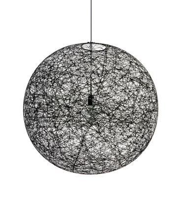 Leuchten - Pendelleuchten - Random Light LED Pendelleuchte LED-Version - Ø 50 cm - Moooi - Schwarz - Ø 50 cm - LED - Glasfaser, Résine époxy