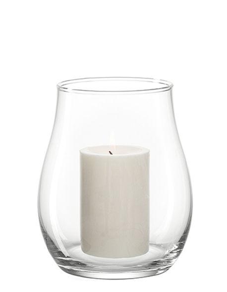 Déco - Bougeoirs, photophores - Photophore Giardino / Vase - H 18 cm - Leonardo - H 18 cm / Transparent - Verre