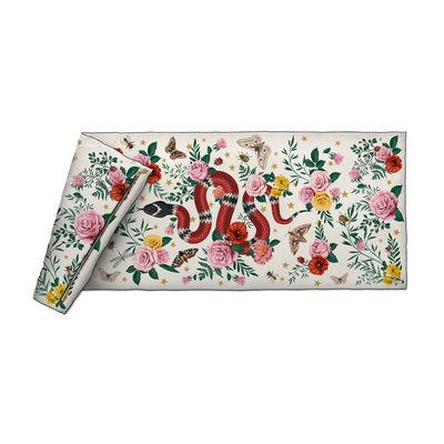 Decoration - Bedding & Bath Towels - Serpent Plaid - / Velvet - 85 x 200 cm by PÔDEVACHE - White - Fabric, Polyester, Velvet