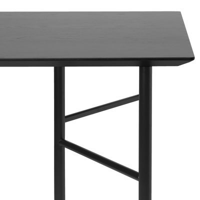Plateau rectangulaire / Pour tréteaux Mingle Small - 135 x 65 cm - Ferm Living noir en bois