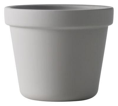 Pot De Fleurs Outside In Avec Soucoupe Integree Gris O 17 Cm Muuto
