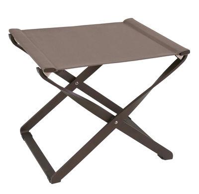 Pouf Ciak / Repose-pieds - Pliable - Emu marron d´inde en métal