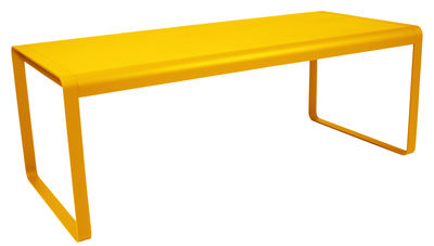 Outdoor - Garden Tables - Bellevie Rectangular table by Fermob - Honey - Aluminium, Steel