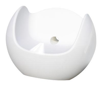 Rocking chair Blos / Version laquée - Slide laqué blanc en matière plastique