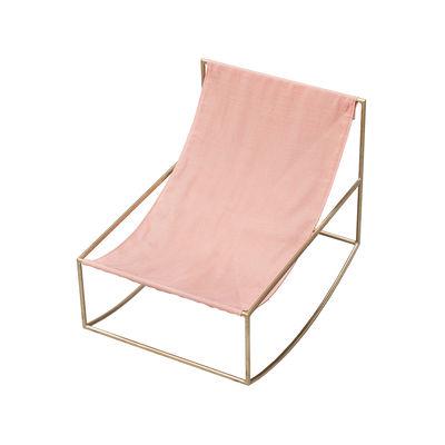 Rocking chair / Lin - valerie objects rose en tissu