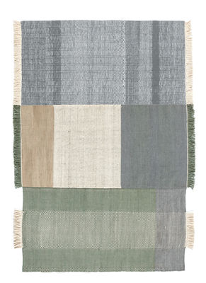 Decoration - Rugs - Tres Rug - 170 x 240 cm by Nanimarquina - Beige, Blue, green - Cotton, Felt, New-zealand wool