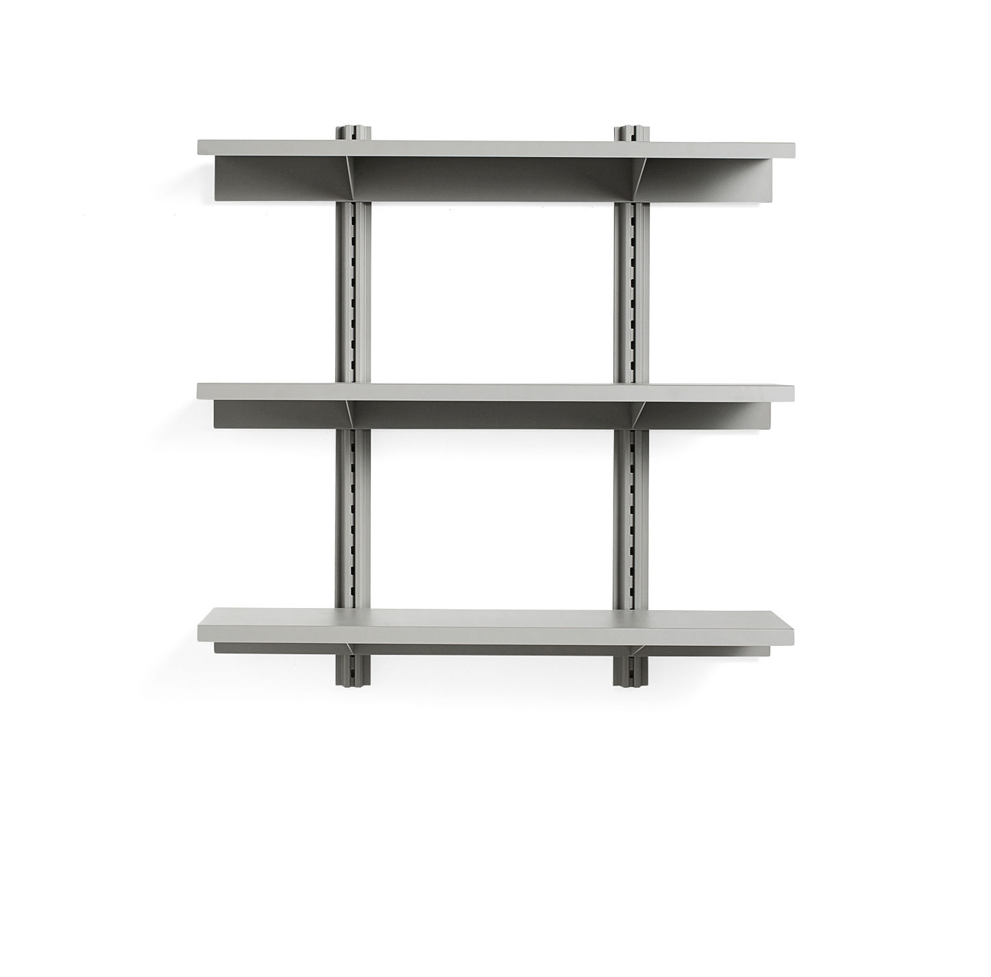 Furniture - Bookcases & Bookshelves - Standard Issue Shelf - / L 120 x H 120 cm - Steel by Hay - Grey - Epoxy lacquered steel