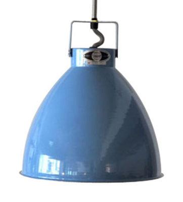 Illuminazione - Lampadari - Sospensione Augustin - Medium Ø 24 cm di Jieldé - Blu brillante / Interno argento - metallo laccato
