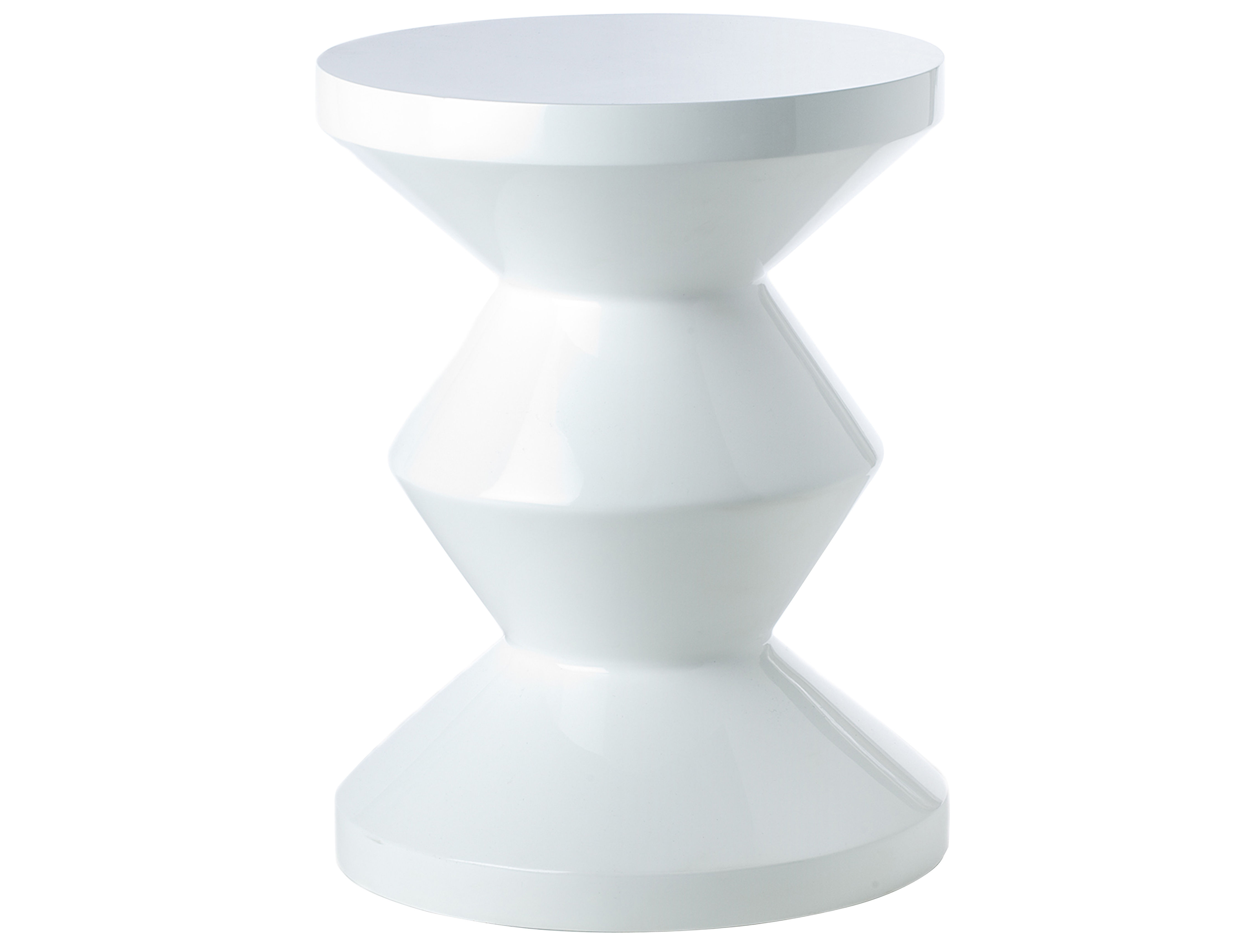 Furniture - Stools - Zig Zag Stool - Stool/Low table - Exclusivity by Pols Potten - White - Lacquered polyester