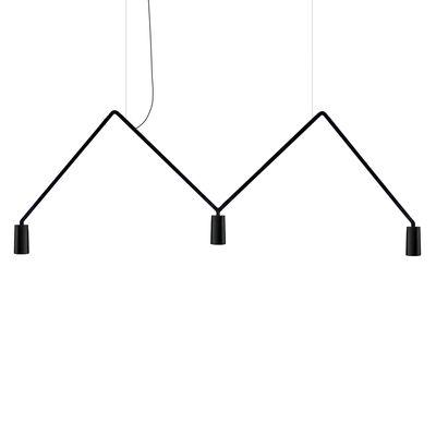 Suspension Dabliu Spot LED / L 130 cm - Nemo noir en métal