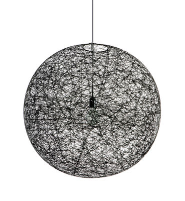 Luminaire - Suspensions - Suspension Random Light LED / Small - Ø 50 cm - Moooi - Noir - Fibre de verre, Résine époxy
