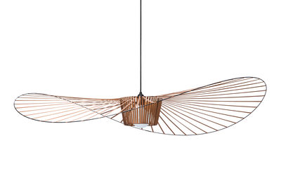 Suspension Vertigo Large / Ø 200 cm - Petite Friture orange/cuivre en matière plastique