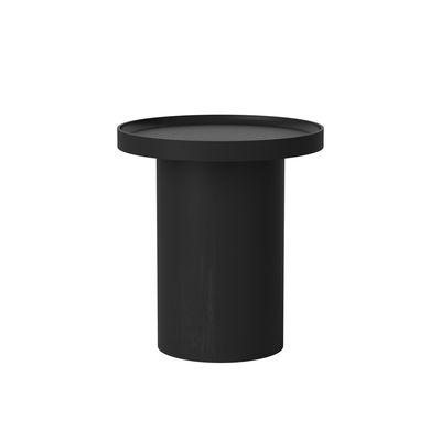 Table basse Plateau Small / Ø 48 x H 52 cm - Plateau amovible - Bolia noir en bois