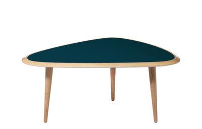 Table basse Small / 85 x 53 cm - Laque - RED Edition chêne naturel,bleu peacock laqué en bois
