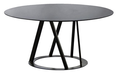 Table Big Irony / Ø 147 cm - Zeus noir cuivré en métal