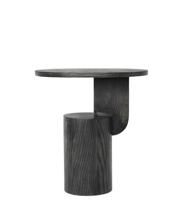 Table d'appoint Insert / H 50 cm - Bois - Ferm Living noir en bois