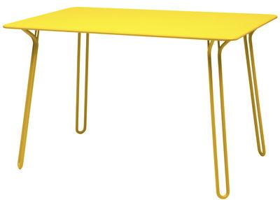 Table Surprising / 120 x 78 cm - Fermob miel en métal