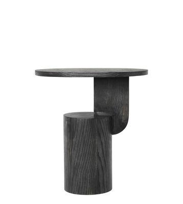 Arredamento - Tavolini  - Tavolino d'appoggio Insert - / H 50 cm - Legno di Ferm Living - Nero - Frêne massif teinté