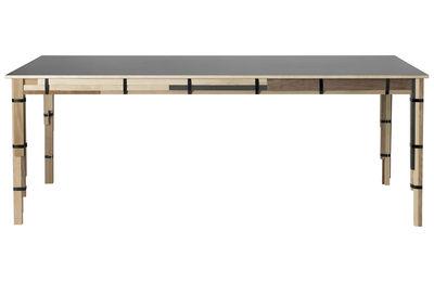 Arredamento - Tavoli - Tavolo rettangolare Keep di Muuto - Mix di Legno - Legno, Linoleum, Metallo