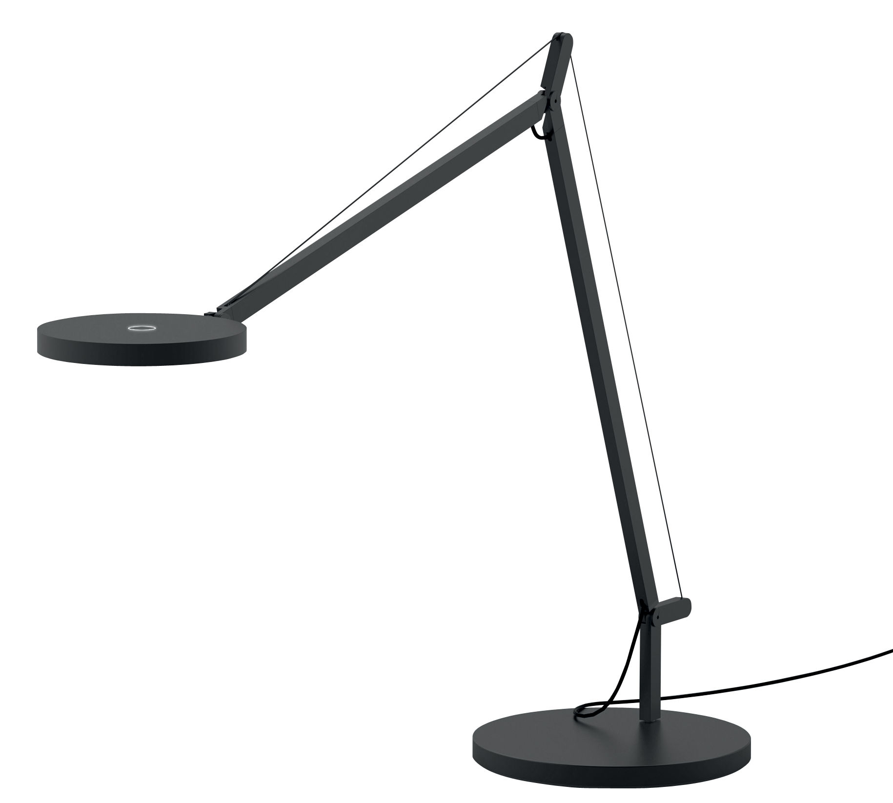 Leuchten - Tischleuchten - Demetra LED Tischleuchte / mit Bewegungsmelder - Artemide - Grau - Aluminium