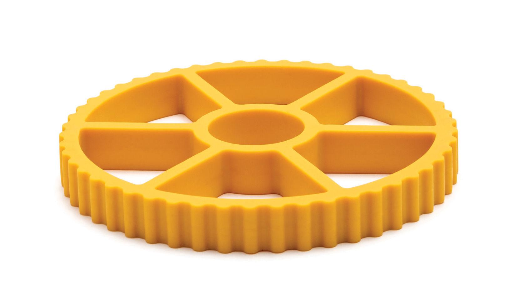 Tischkultur - Topfuntersetzer - Rotelle Topfuntersetzer / Silikon - Pa Design - Gelb - Silicone souple
