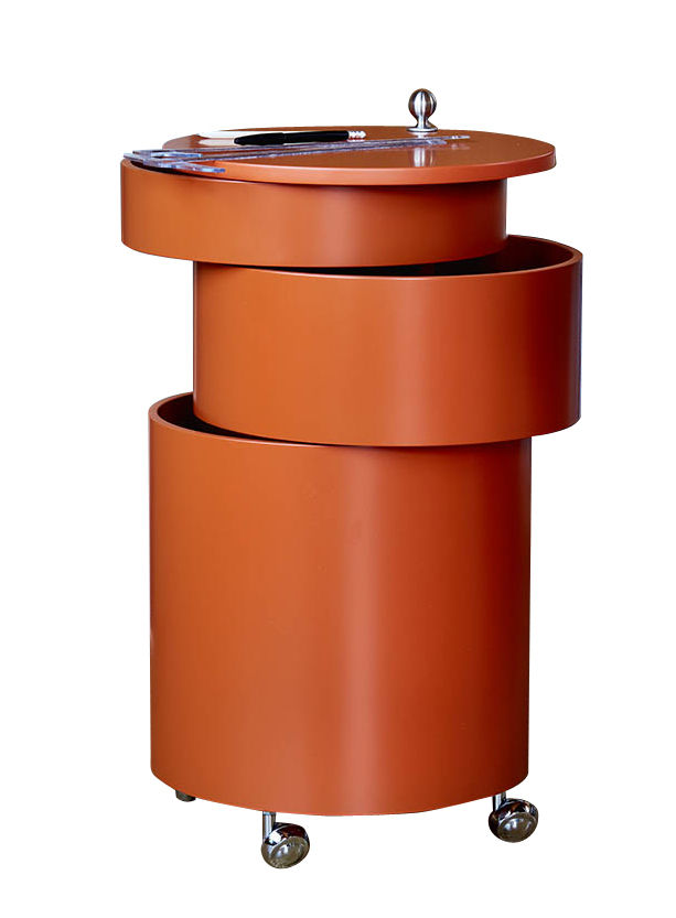 Furniture - Miscellaneous furniture - Barboy Trolley - / Panton 1963 by Verpan - Orange - Painted MDF