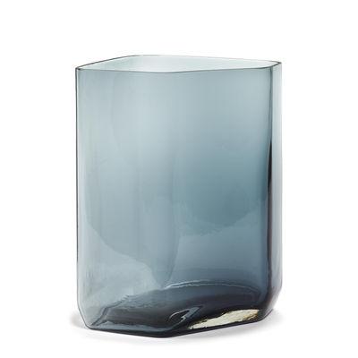 Déco - Vases - Vase Silex Large / H 33 cm - Serax - Bleu fumé - Verre soufflé bouche