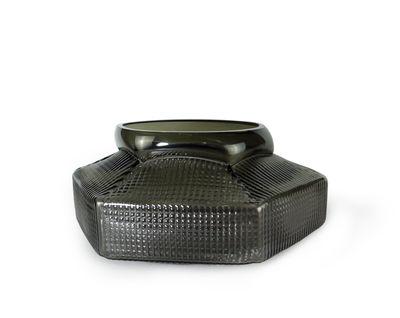 Interni - Vasi - Vaso Trace Bas - / Ø 30 x H 18 cm - Fatto a mano di Vanessa Mitrani - Grigio fumé - vetro soffiato