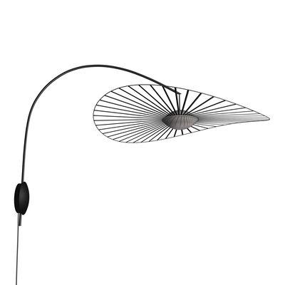 Lighting - Wall Lights - Vertigo Nova LED Wall light - / Ø 110 cm - Rotating arm by Petite Friture - Black - Fibreglass, Polyurethane, Steel, Three-ply glass