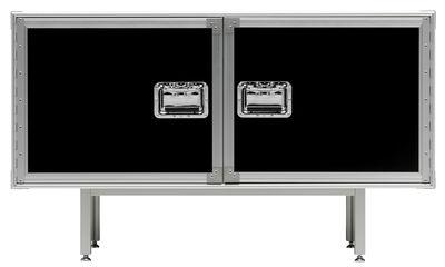 Möbel - Kommode und Anrichte - Total Flightcase Anrichte L 120 cm - Diesel with Moroso - Schwarz - Press-Spanplatte, verchromter Stahl