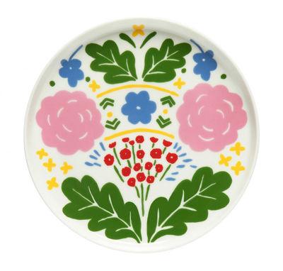 Arts de la table - Assiettes - Assiette à dessert Onni / Ø 20 cm - Marimekko - Onni / Vert, bleu & rose - Grès