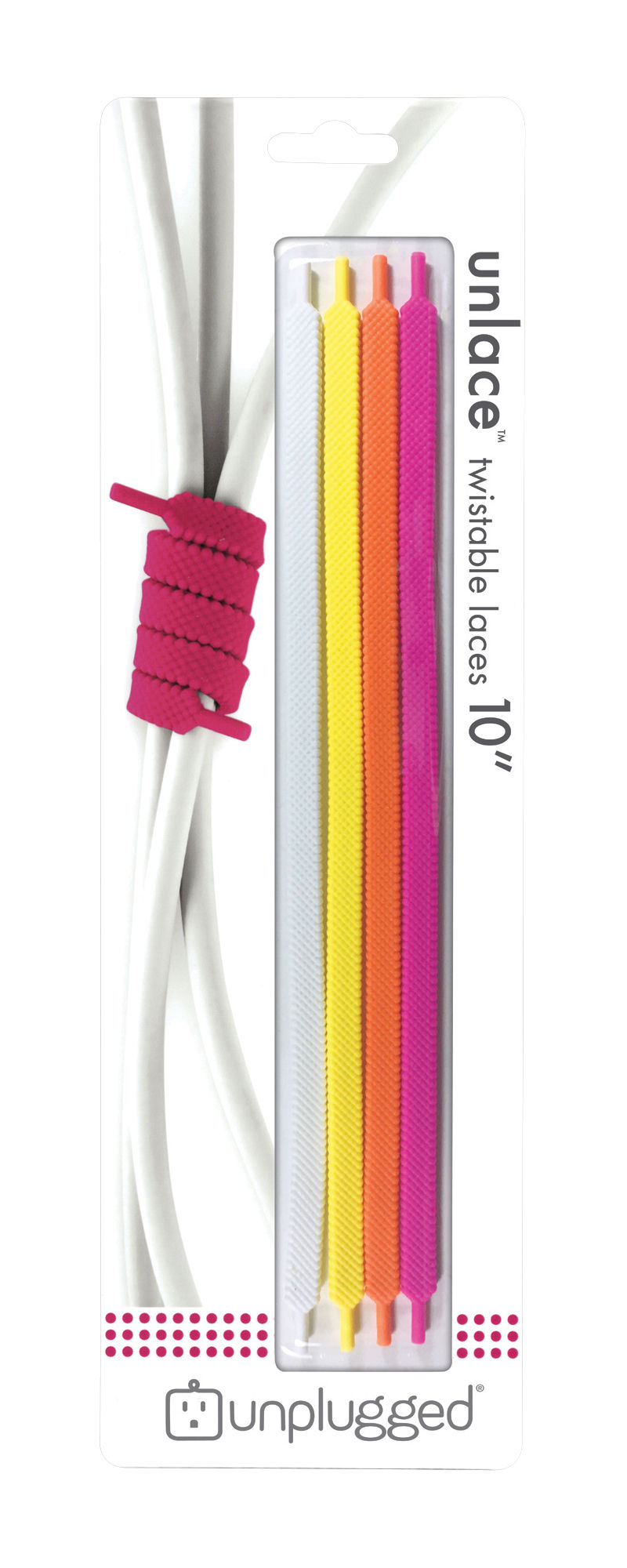 Accessori moda - Accessori ufficio - Avvolgi cavi Unlace / Set da 4 - Pa Design - Agrumi - Fil de fer, Silicone