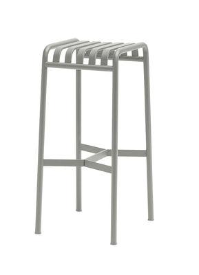 Furniture - Bar Stools - Palissade Bar stool - H 75 cm  - R & E Bouroullec by Hay - Light grey - Electro galvanized steel, Peinture époxy