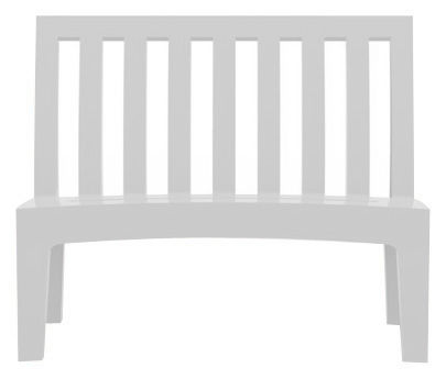 Furniture - Benches - Roméo Bench with backrest by Serralunga - White - Polythene