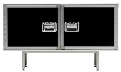Mobilier - Commodes, buffets & armoires - Buffet Total Flightcase L 120 cm - Diesel with Moroso - Noir - Acier chromé, Stratifié