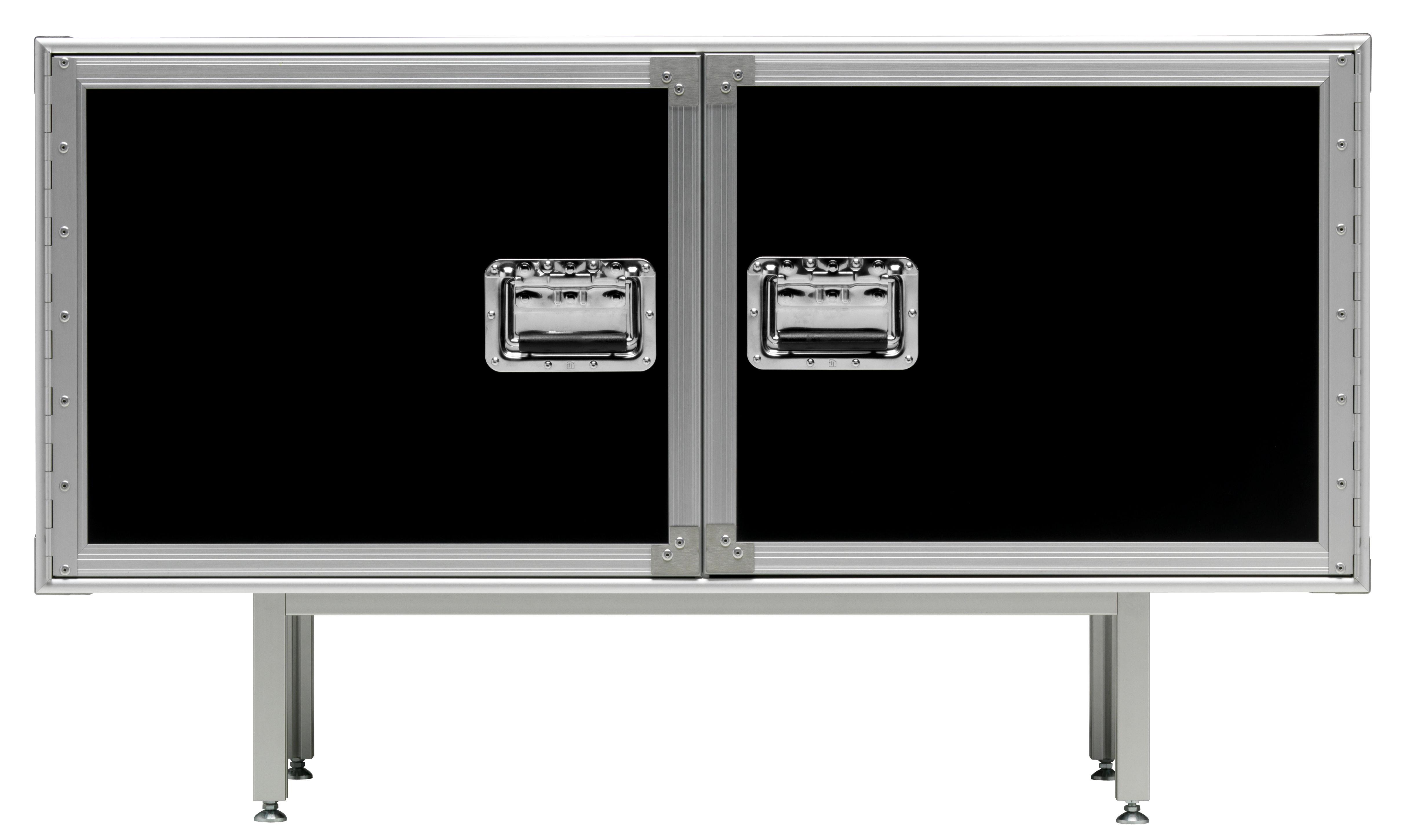 Mobilier - Commodes, buffets & armoires - Buffet Total Flightcase L 120 cm - Diesel with Moroso - Noir - Acier chromé, Stratifié